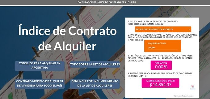 calcular aumento de alquiler argentina