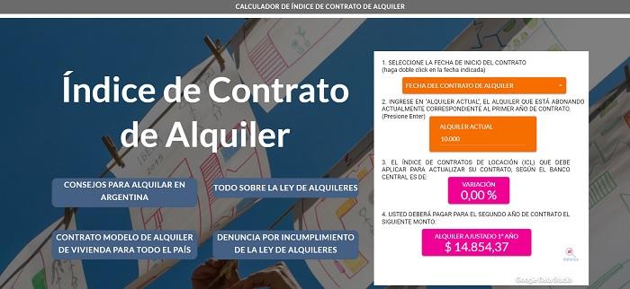 calcular aumento de alquiler en Argentina
